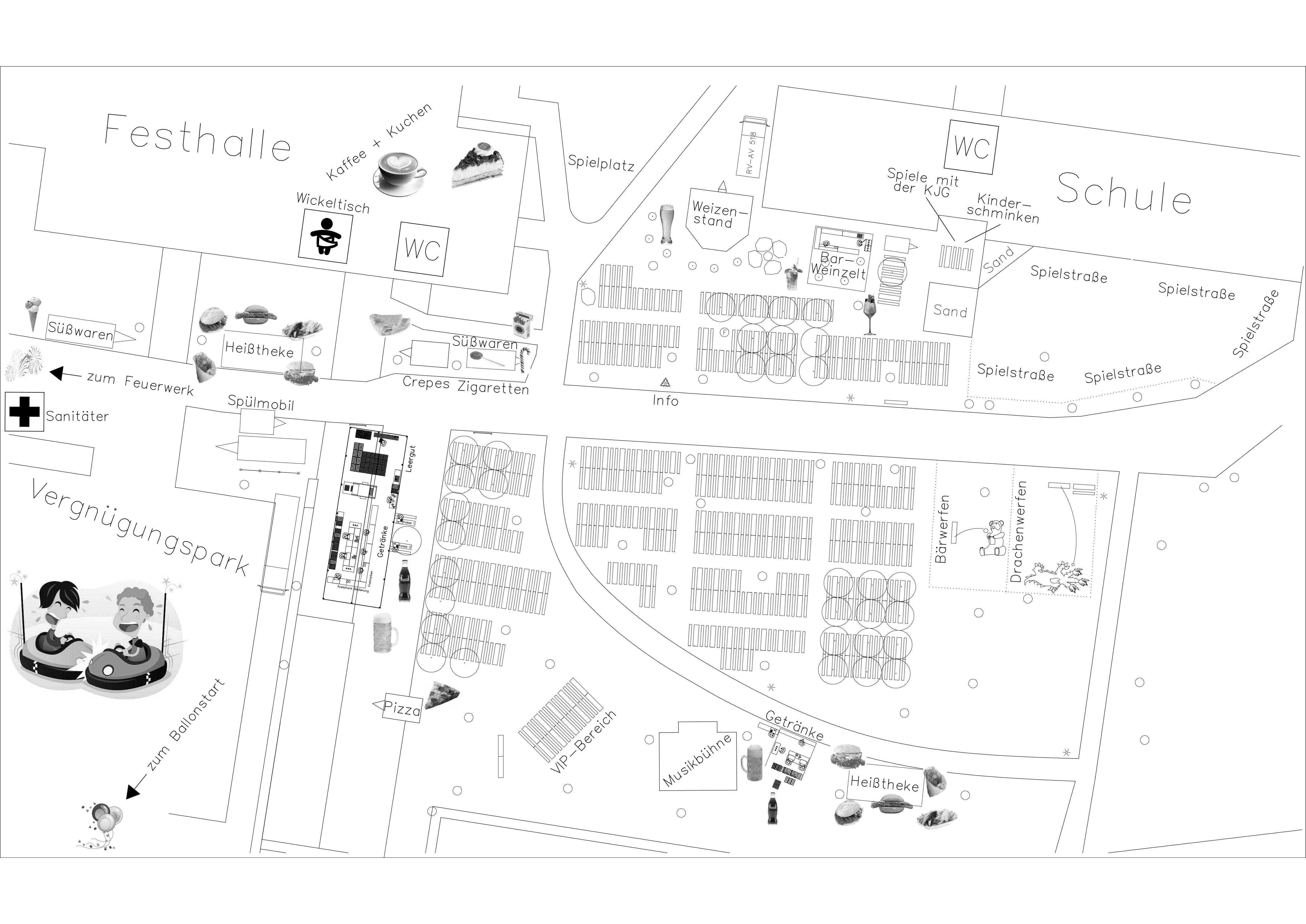 Interaktive Festplatzkarte